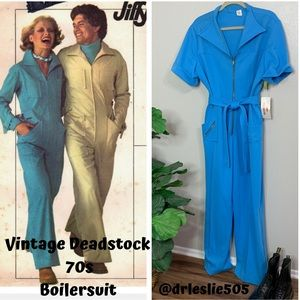 - VINTAGE DEADSTOCK 70s POLY BOILERSUIT SIZE…